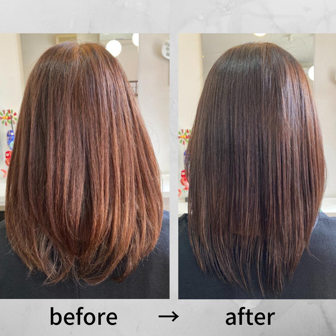 ケアカラー - カラー後のシャンプーも専門的な洗い方で敏感になった頭皮をケアします。