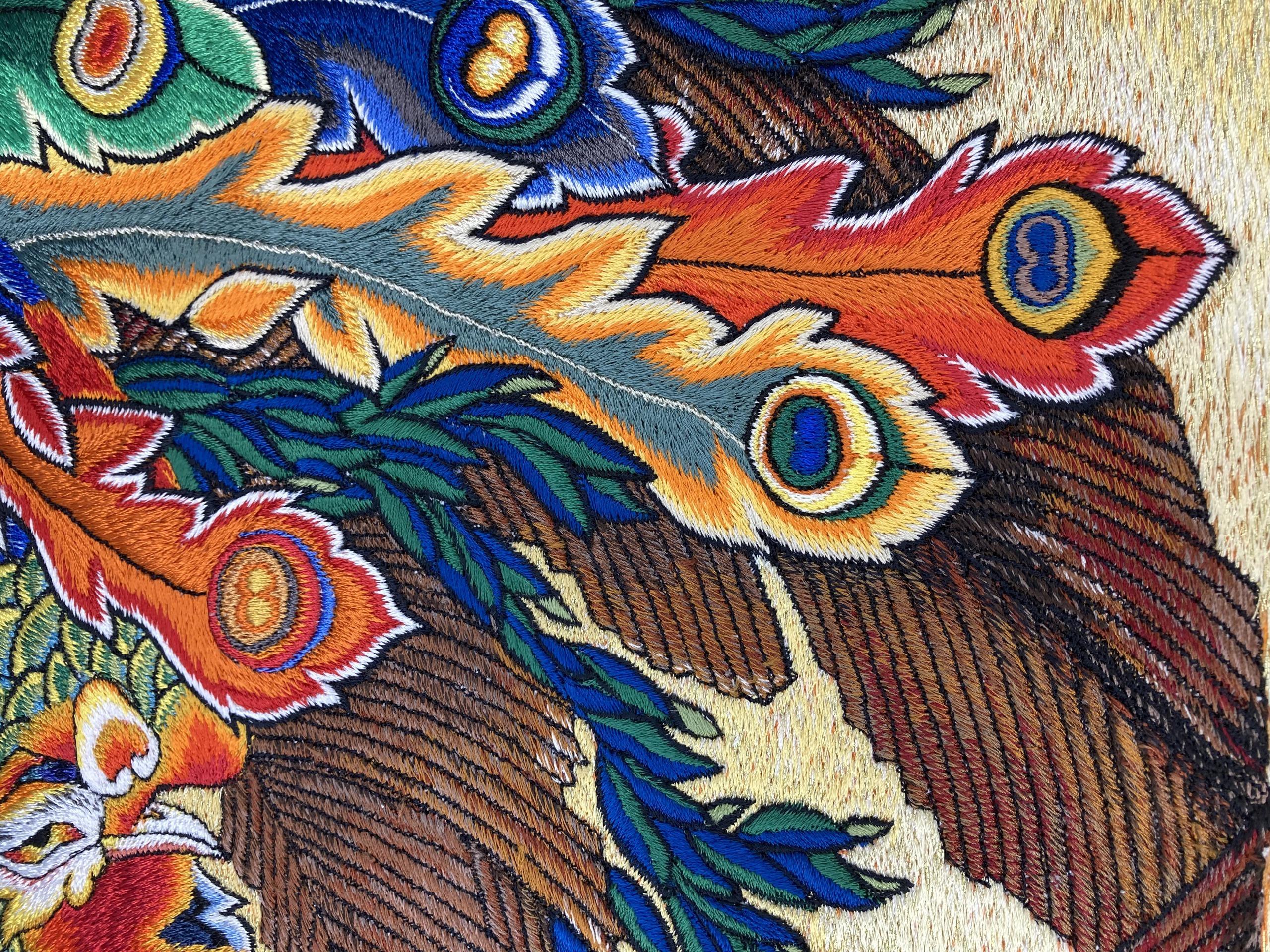 1.江戸時代から続く伝統技術  『横振り刺繍』を継承