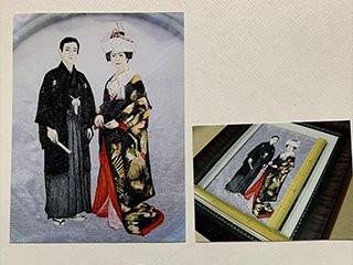 昔の古いお写真から刺繍加工