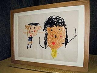お子様の描いた絵を刺繍