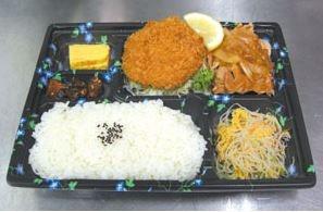 メンチかつ&生姜焼きライス