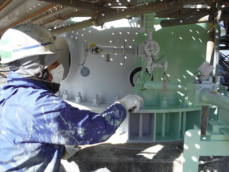 神奈川県横浜市磯子区 タンクブラスト塗装工事