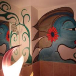 豊中市 店舗改装(外壁塗装・エイジング塗装)画像