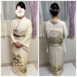 入学式のお母様の出張ヘアーセット着付けのお仕事をさせて頂きました画像