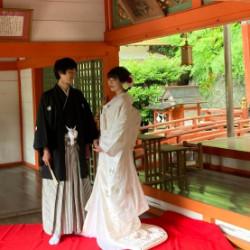 粉河産土神社内で、和装婚礼撮影承りました画像