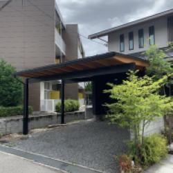 堺市 ガレージ屋根(2台用)画像