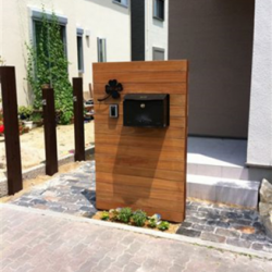 豊中市 木製機能門柱画像
