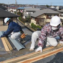 川西市 屋根工事 板金交換画像
