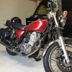 YAMAHA SR400バイクタンクの凹みリペア!