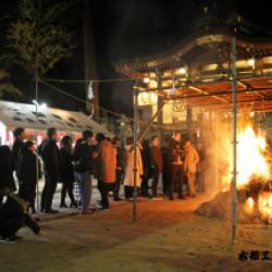 三田三輪神社初詣風景画像