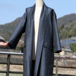 大島紬の春用コート(オーダ)画像