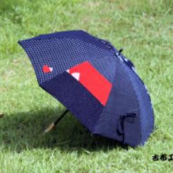 紺かすりの傘(作品No1132)画像
