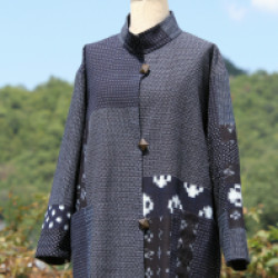 かすり布のハーフコート(作品No1135)画像