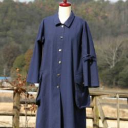 伊予小綿のコートドレス(作品No1153)画像