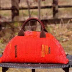 裂き織りのバッグ(作品No1155)画像