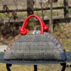 裂き織りのバッグ(作品No1156)画像