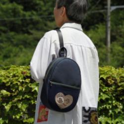 大島紬と綿の片掛リュック(作品No1171)画像