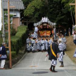 三田天満神社の秋祭り画像