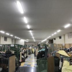 某アパレル工場 照明器具リニューアル工事画像
