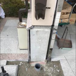 腰板及び土間修理工事画像