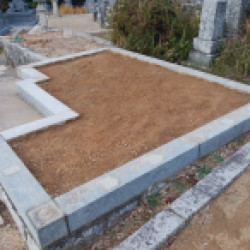 墓石撤去が完了しました。