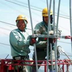 27万ボルト送電線新設工事イメージ