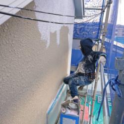 神戸市北区O様邸 下塗り塗装画像