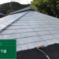 神戸市北区N様邸 屋根下塗り塗装画像