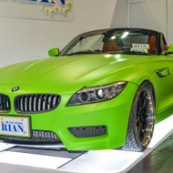 BMW Z4 キウイグリーン ラッピング塗装