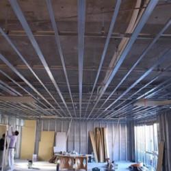 店舗天井軽天工事画像