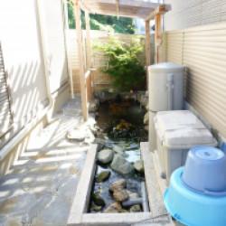 生駒市 池工事画像