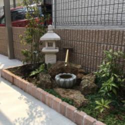東大阪市 I様邸 リビングから見る坪庭画像