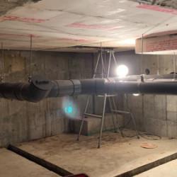 地下ピット配管取付工事