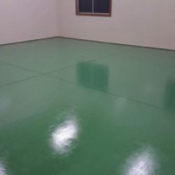 加須市工場、床補修塗装工事