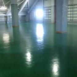 施工事例 倉庫 床塗装工事