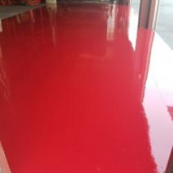 加須市 運輸会社様の倉庫入口 床塗装