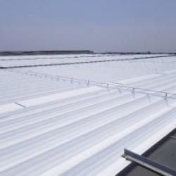 超大型屋根 遮熱塗装工事(フッ素)