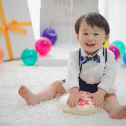 神奈川県横浜市 1歳バースディお祝いフォト