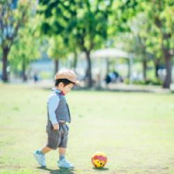 東京都江東区 豊洲公園 2歳バースディお祝いフォト
