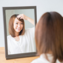 前髪パーマ画像